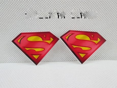 5 x  44MM SUPERMAN LOGO LASER CUT FLAT BACK RESIN HEADBANDS BOWS CARD MAKING LOOK SALE